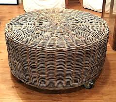 rattan ottoman wicker ottoman round fascinating round wicker ottoman round rattan ottoman on wheels with regard