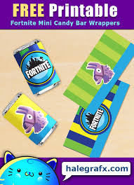 Free Printable Fortnite Mini Candy Bar Wrappers