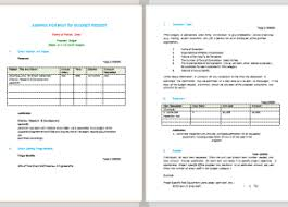 Budget Proposal Example Budget Templates For Excel