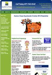 october newsletter ideas auston chase apartment homes newsletter archives