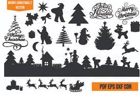 Merry Christmas Vector Cut 2 Graphic By Am Diseno Creative Fabrica