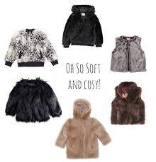 kids fake fur winter coats