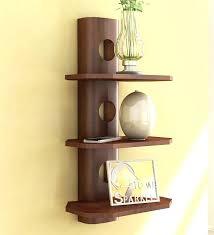 half circle wall shelf round wall shelf wood brown mango wood 3 tier round shelf by home sparkle half wall round wall shelf