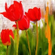 red tulip painting red enigma red tulips paintings by lourry legarde