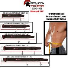 Dark Iron Fitness Genuine Leather Weight Lifting Belt