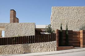 modern home architecture stone. Stone Wall Of A Modern Home Architecture S