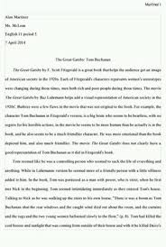 great gatsby essay alan martinez dvs digital portfolio for the great gatsby essay we the book the great gatsby and we got a sense of how people were living in the 1920s and we had to create a thesis