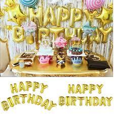 GZHOUSE <b>13pcs</b>/<b>set</b> Letter Colorful Foil <b>Balloon Birthday</b> | Shopee ...