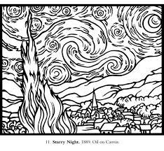 Van Gogh Kunst In De Klas Kleurplaten Kunstenaar En Abstracte