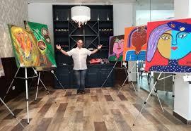 Alan Téllez expone sus obras en Playa del Carmen