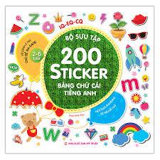 Bộ Sưu Tập 200 Sticker - Bảng Chữ Cái Tiếng Anh - Tô màu - Luyện chữ Tác  giả Phan Minh Đạo