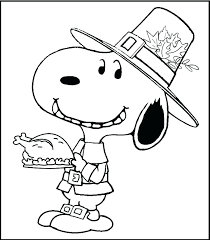 Free Printable Charlie Brown Thanksgiving Coloring Pages Free
