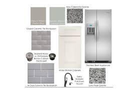 create a kitchen design board choose kitchen tile flooring cabinets countertops paint etc