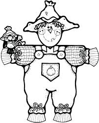 free printable scarecrow coloring page for kids 4