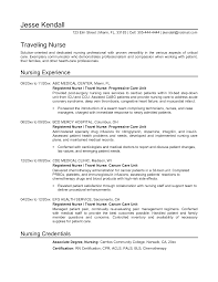 Sample Resumes For Nurses Travel Nurse Resume Exles Sle Nursing