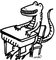 student desk clipart black and white. alligator at desk student clipart black and white