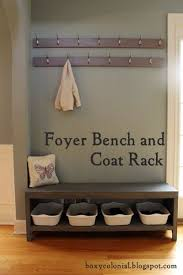A New Coat Rack and Bench for Our Foyer=Much Better - | Diy coat rack, Coat  racks and Foyers