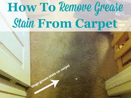 how to remove grease stains from carpet using a simple home remedy on stain removal