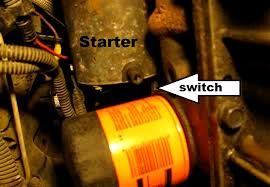 the original mechanic how to replace the starter in a gm 2 4l quad  under view it is a good idea to unplug the fuel pump cut off oil pressure switch