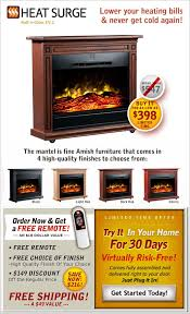 Electric Portable Fireplace Heaters On CustomFireplace Quality Amish Fireless Fireplace