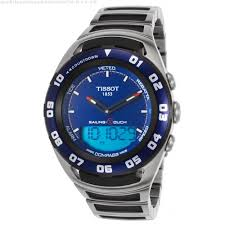 t0564202104100 watches men s sailing touch digital analog ss tissot t0564202104100 watches men s sailing touch digital analog ss black rubber blue dial sport tissot analog