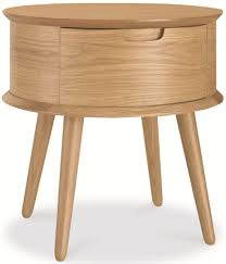 Side Bedroom Tables Bentley Designs Orbit Oak Bedside Table 1 Drawer Sidetable