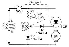 scr dc motor drive circuit diagram images soft start wiring of ac motor using scr circuit diagram a drill speed controller design