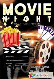 Free Movie Night Flyer Templates Movie Night Flyer Psd Template Facebook Cover 2 Free