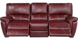 red leather reclining sofa. Browning Bluff Red Leather Reclining Sofa