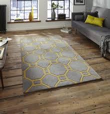 hong kong 4338 grey yellow rug