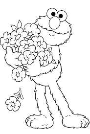 And Cookie Monster Coloring Page Free Printable Coloring Pages And