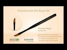 pincel. pincel keramik mini brush