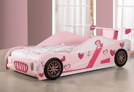 Buy The Best And New Car Beds For Girls: Dashing and New Pink Love wood
