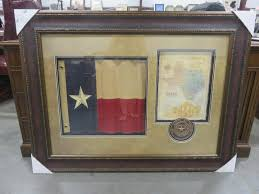large texas flag map and seal art