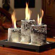 electric fireplace candles real flame birch pillar tabletop gel fireplace meets all clean air standards set