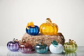 hand blown glass pumpkins gourds large small pumpkins