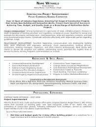 general contractor resume. General Contractor Resume New Construction Resume Examples