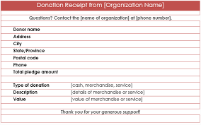 Ngo Donation Receipt Format Rome Fontanacountryinn Com