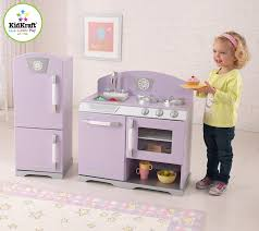 Kid Craft Retro Kitchen Amazoncom Kidkraft Lavender Retro Kitchen Refrigerator Toys Games