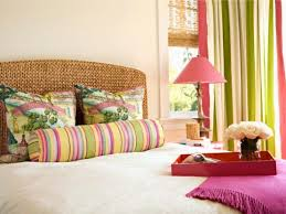 Great Bedroom With Colorful Stripes