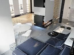 Monochromatic Living Room Decor White Room Decor Inspiration Cement Floors Plywood Walls