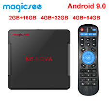 Magicsee N5 NOVA 4GB 64GB RK3318 Quad Core Android 9,0 Tv Box 2,4G 5G Wifi  BT 4,0 Smart Set Top Box 4K N5 MAX Media Player|