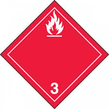 Tdg Symbols Chart Tdg Hazard Class 3 Shipping Label Flammable