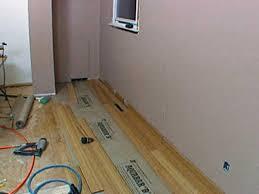 How to install bamboo flooring Plank Flooring Hripr207underlayment Hgtvcom How To Install Bamboo Flooring Hgtv