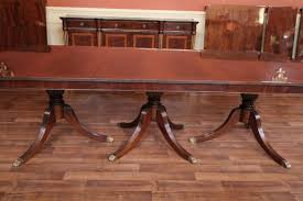 9 foot dining table. Triple Pedestal Dining Table Shown Here With No Extensions 9 Foot