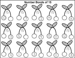 719d97a4b6532b5a6e7a1cc50cca31df number bonds to 15 free math worksheets math numbers, number on kindergarten printable worksheets