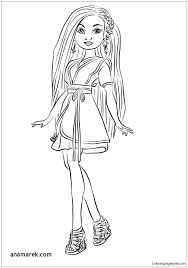 Descendants Coloring Pages Printable Coloring Book Themes