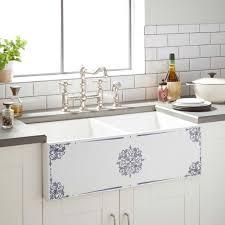 signature hardware 33 giovanni double bowl fireclay farmhouse sink in white