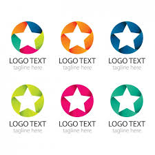 Logos With Stars Colourful Circles With Stars Logos Pack Vector Free Download