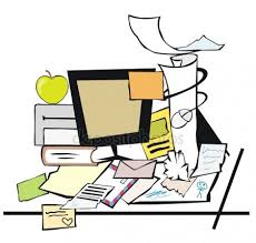 messy desk clipart. Contemporary Desk Dirty Clipart Untidy Desk Messy Stock Vectors Royalty Throughout Desk Clipart
